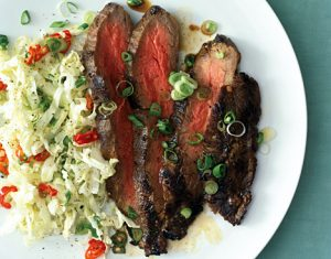 242464Grilled Asian Flank Steak with Sweet Slaw