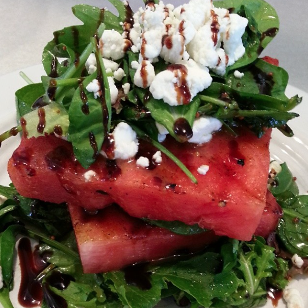 Grilled Watermelon Goat Cheese Stack