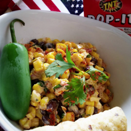 Steaknight Roasted FireCRACKer Corn Salsa