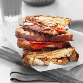 Caramelized Onion & Goat Cheese Panini